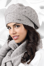 Kamea women's thick beret Carbonia