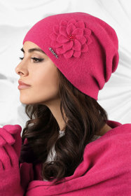 Kamea woolen flower smooth women's hat Bari