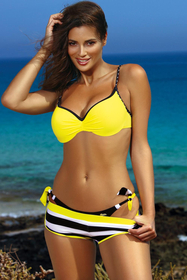 Marko striped sailor three piece bikini Victoria M-449