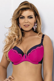 Mat 2313/22 Rouge underwired padded bra dots adjustable non removable straps