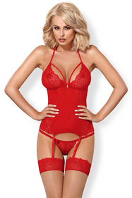 Obsessive women's lace sheer corset 838-COR-3