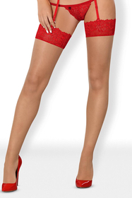 Obsessive women's lace stockings 838-STO-3