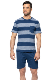 Rossli men's striped  pyjama set SAM-PY-150