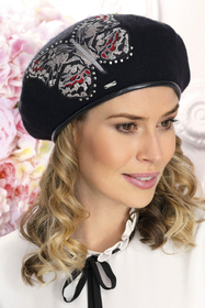 Willi women's patterned woolen beret Niv